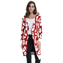 Autumn Explosive Knit Cardigan Jacket Loose Leopard V-neck Womens Sweater Winter New Casual Long Sleeve