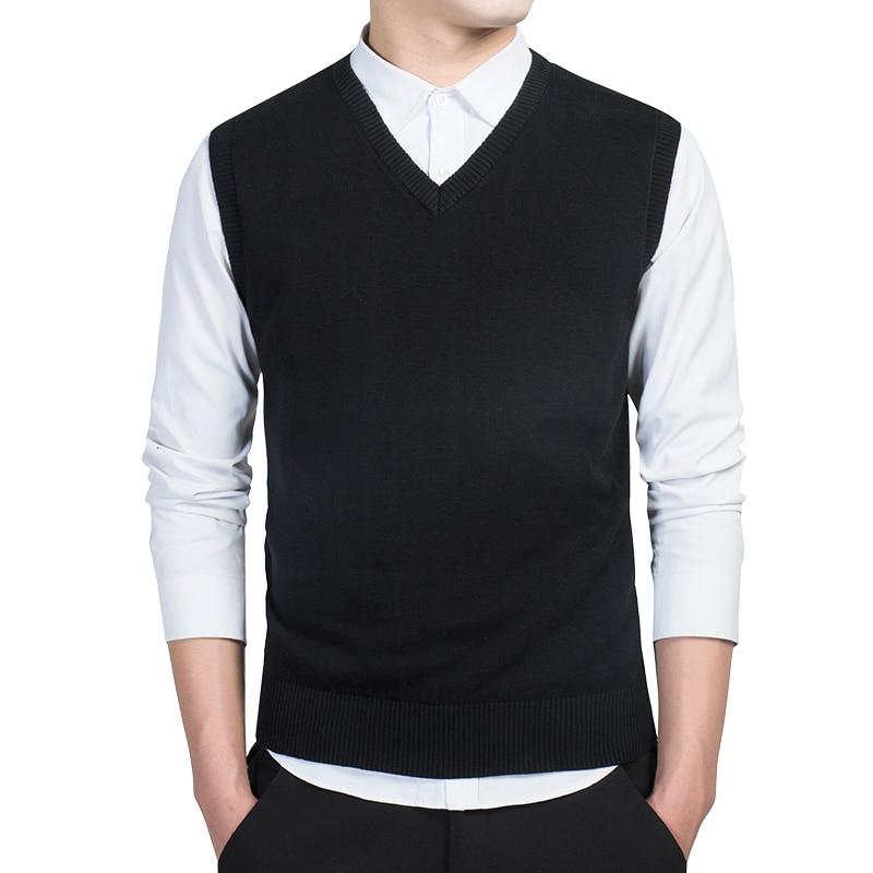 KKSKY Mens Sweater Vest Slim Fit Casual V-Neck Cotton