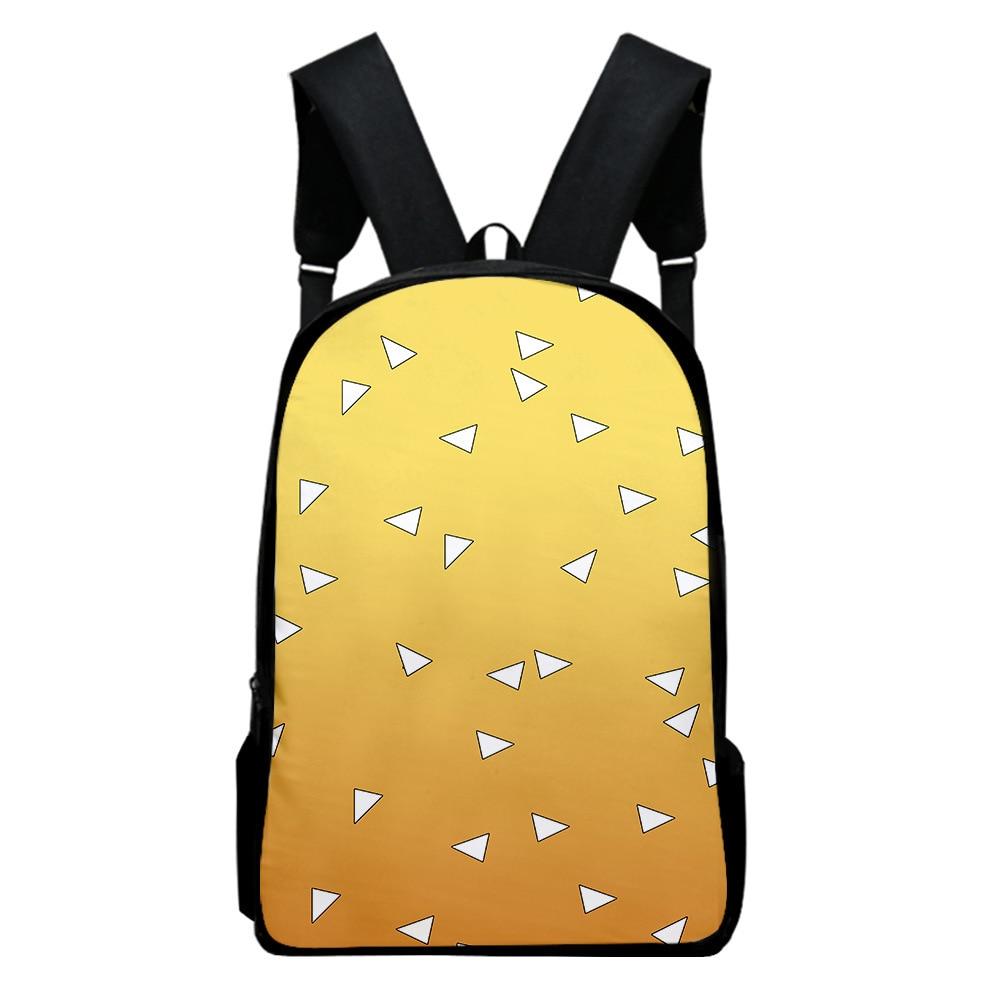 Demon slayer: kimetsu no yaiba backpack canvas kamado tanjirou