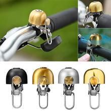 Ретро Медный велосипедный Звонок аварийный сигнал с креплением на руле кольца Рог Аксессуары для велосипеда шик