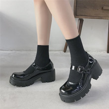 Student Shoes College Girl Student LOLITA Shoes JK Uniform Shoes PU Leather Heart-shaped Ankle-strap Mary Jane Shoes platform