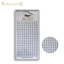QD AMOR 3cases /lot 16lines Lashes Pre made Volume Wide fans  eyelashes Russian Professional Eyelash Extensions