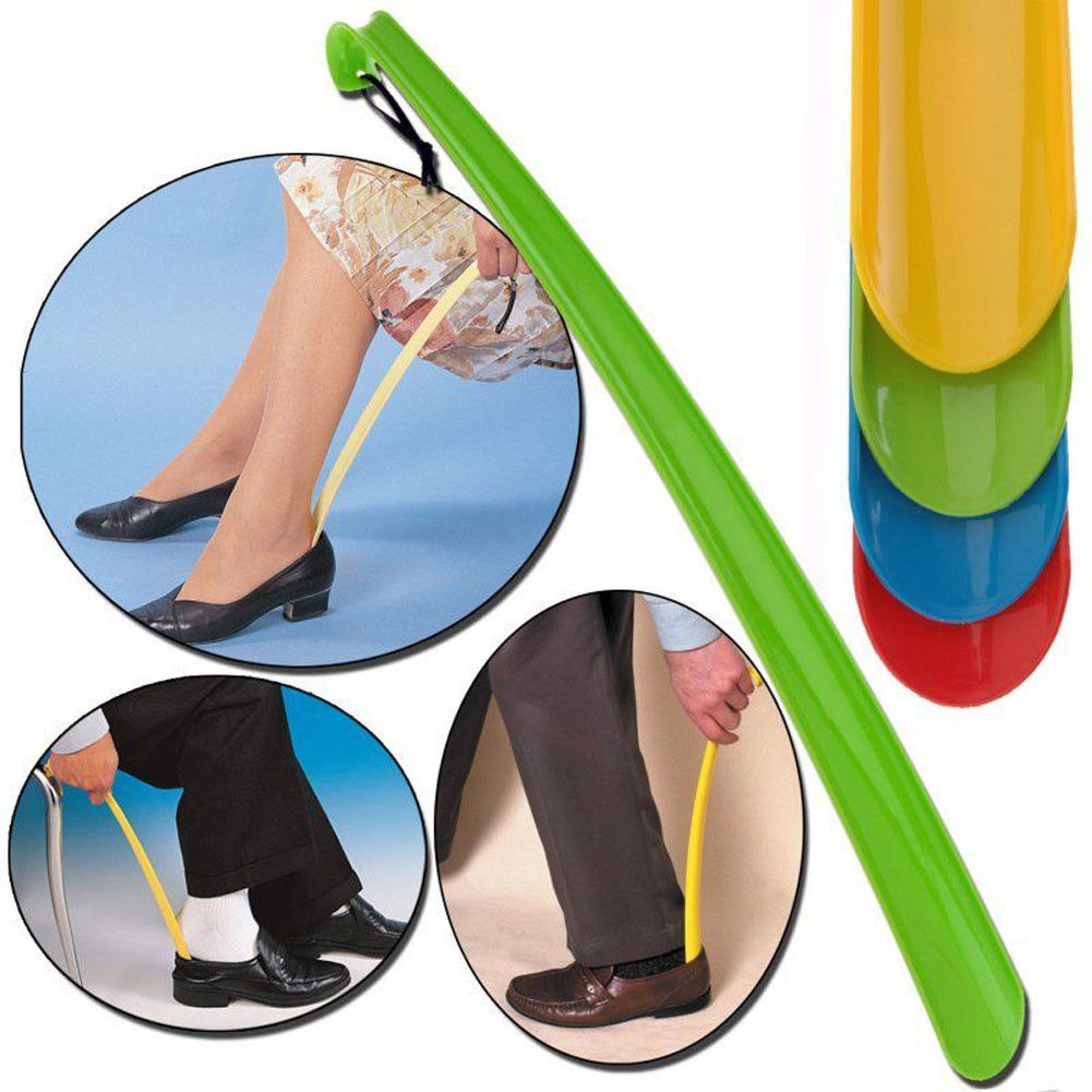 Extra Long Plastic Shoe Horn Lifter Disability Mobility Aid Stick Shoe Horn Remover Flexible Shoehorn Convenient Shoe Pull Tools