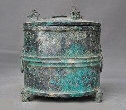 Dekoracja ślubna starochińska dynastia artykuły z brązu feniks bestia wzorzec tekstu Wineware Crock pot jar