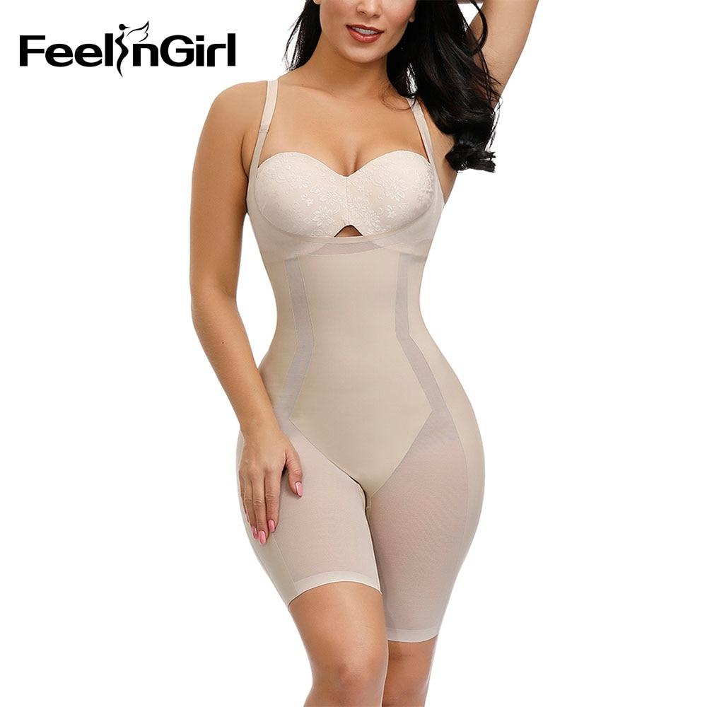 Women Tummy Control Full Body Shaper Butt Lifter Chest Binder Corset Shape Wear