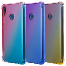 Shock Absorption Dirt Resistant Phone Case For Huawei Y9 2019 enjoy 9 plus Anti Skid Soft TPU Rubber Dust Plug With Lanyard Hole