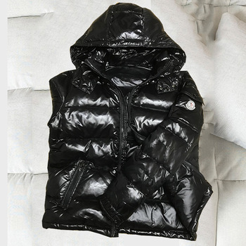 Mens short hooded thickened cold proof warm white duck down coat