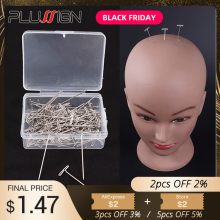Plussign парик с Т-образными шпильками 1,5 дюйма для удержания париков удлинитель для волос парик блокирующий Вязание моделирование и рукоделие 50 шт. Т-образные шпильки
