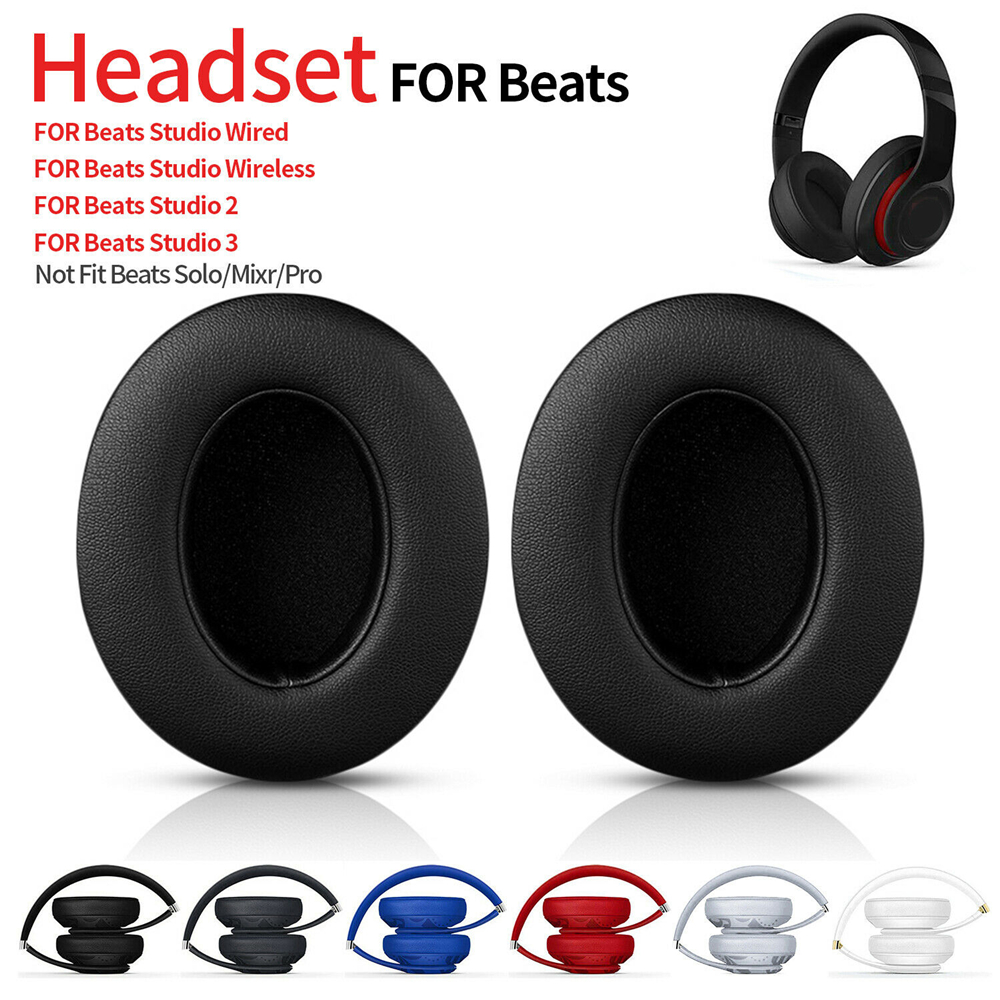 1 paire oreillettes de remplacement pour Beats Studio 2 3 casque sans fil filaire Ultra-doux éponge coussin mode écouteurs couverture noir