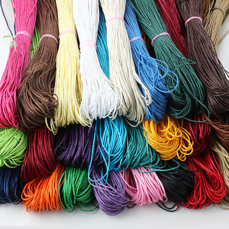 80Meter Waxed Cotton Cord 1mm Thread String Rope Spool Wire Fit Beading Craft For DIY Making Bracelet Necklaces Jewelry Findings