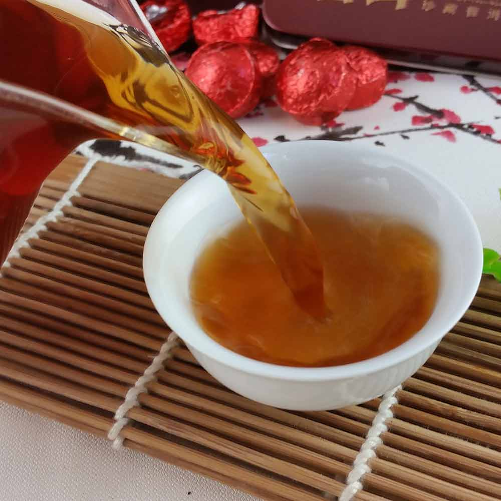 2019 Yr Rose Mini Ripe Pu-erh Tuocha, Yunnan Shu Pu-erh Pu-erh Gift Packing 75g 5