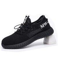 Nouvelle exposition chaussures de sécurité 2019 hommes en acier orteil Anti-fracassant Construction travail Sneaker en plein air respirant mode bottes de sécurité