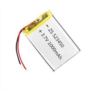 Image 1 - 100% מקורי 1/2pcs 3.7V 1000mAh פולימר ליתיום נטענת סוללה נטענת עבור טלפון חכם DVD MP3 MP4 Led מנורה