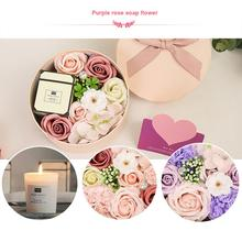 Soap Flower Gift DIY Valentine's Day Rose Box Bouquet Wedding Home Festival Gift Home Decoration Acessories Fake Flower 2020 недорого
