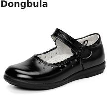 Shoes Genuine-Leather Mary Jane Flats Party Girls Princess Kids Children for Black Student