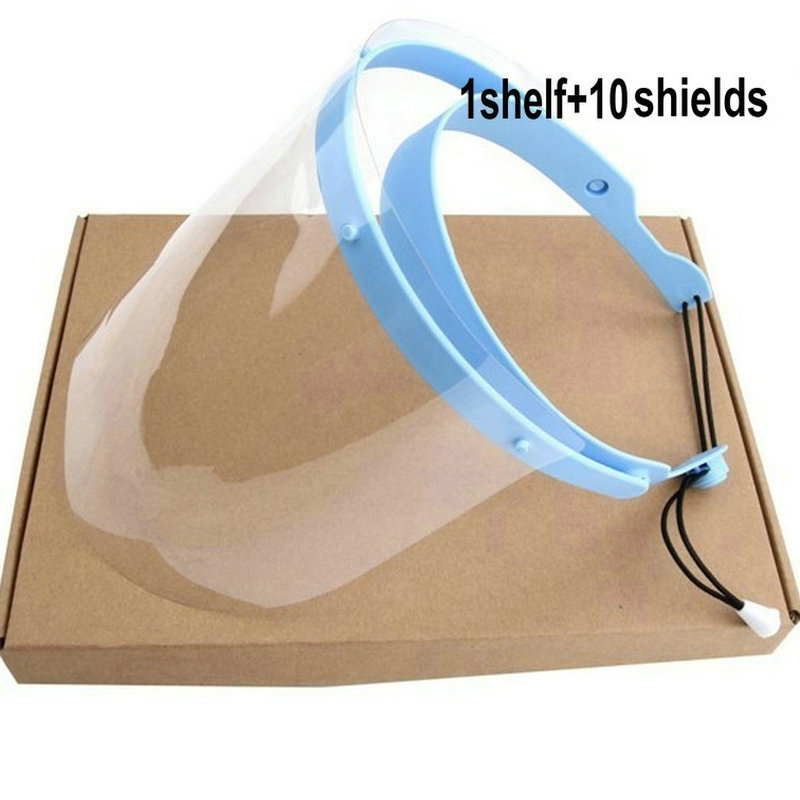 Dental Protective Cover 1 Frame With 10 Films Dental Face Shield Detachable Face Shield Replacement Covers