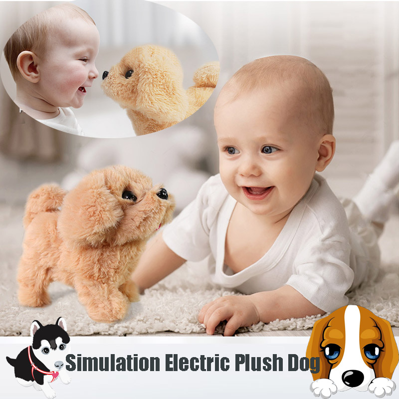 18CM Interactive Plush Puppy Electronic Toys Cute Robot Dog Plush Toys For Children Doll Birthday Christmas Birthday Gift|Electronic Pets| |  - title=