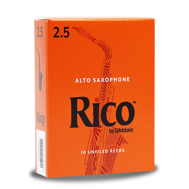 American Rico Drop E Tune Alto Saxophone Reeds Rui Mouth Orange Box Languette 10 PCS Official Authorized image