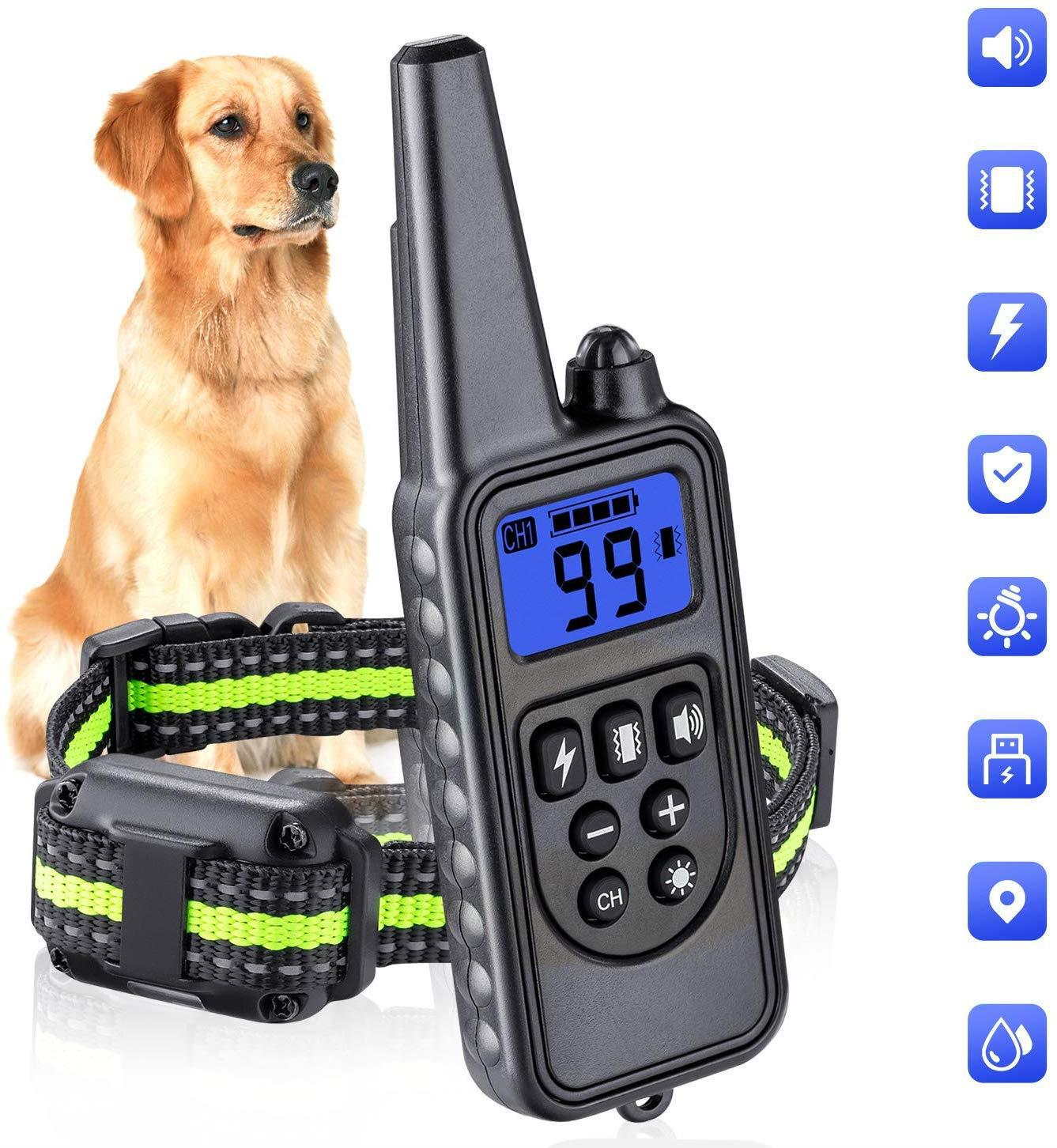 2020 New Style Nylon Dog Trainer Only Fei Vibration Electric Shock Collar Pet Supplies Training Hot Sales