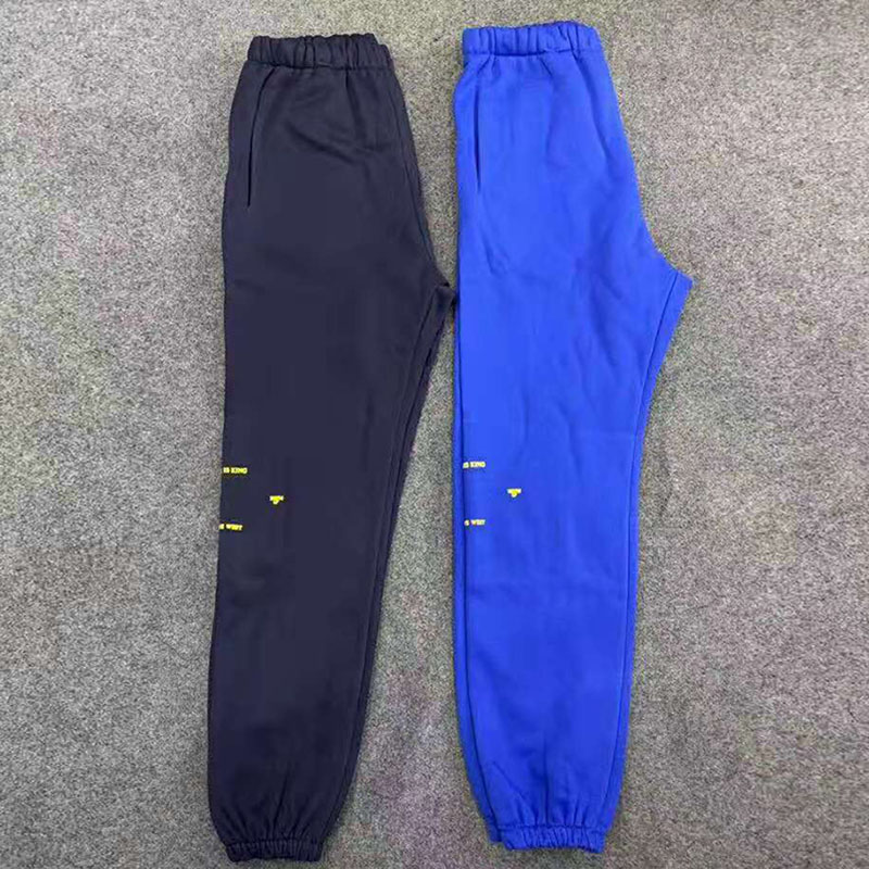 Kanye Elastic Waist Sweat Pants Men Fleece Joggers Baggy Track Pants Loose Streetwear Pants Men Hip Hop Trousers