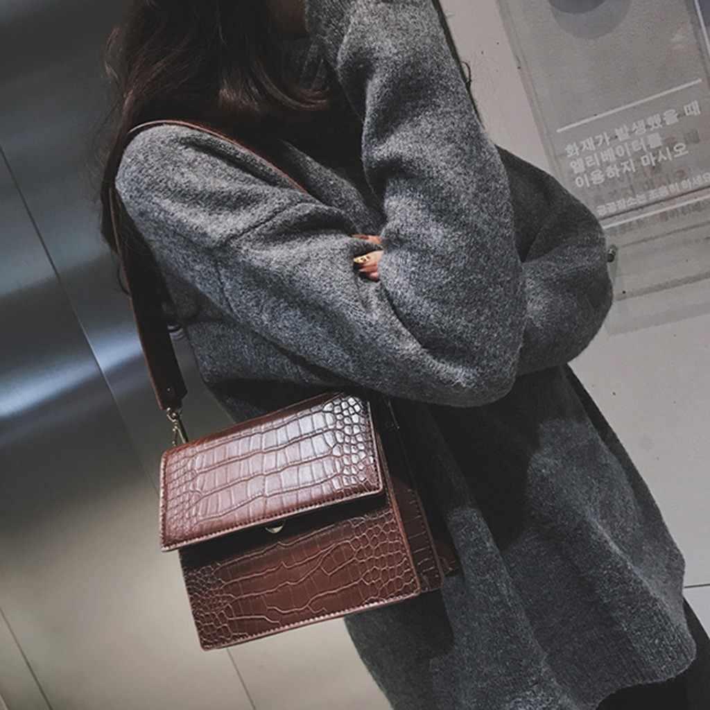 Designer feminino bolsa de luxo 2019 moda alta qualidade couro do plutônio bolsas femininas crocodilo padrão ombro mensageiro saco #38