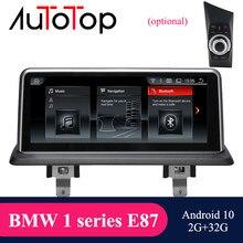 Автомагнитола AUTOTOP для BMW, мультимедийный проигрыватель на Android 10 с GPS-навигацией и DVD-плеером для BMW 1 серии 120i E81 E82 E87 E88 CCC/CIC 2005-2012