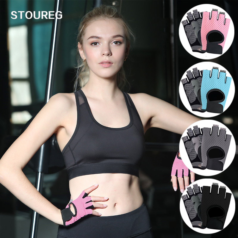 Breathable Men Women Fitness Gloves Gym Weightlifting Gloves Bodybuilding Training Gloves Non-slip Cycling Half Finger Gloves(China)