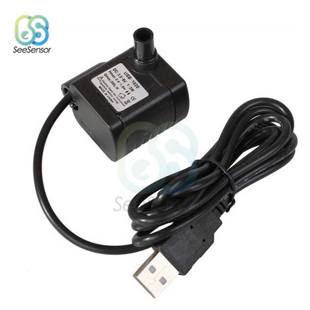 DC 3.5 V-9 V 3 Watt USB Brushless Submersible Fountain Pond Pompa Air untuk Aquarium Ikan Tangki Plastik