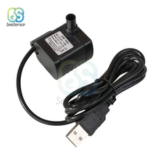цена на DC 3.5V-9V 3W USB Brushless Submersible Fountain Pond Water Pump for Aquarium Fish Tank Plastic