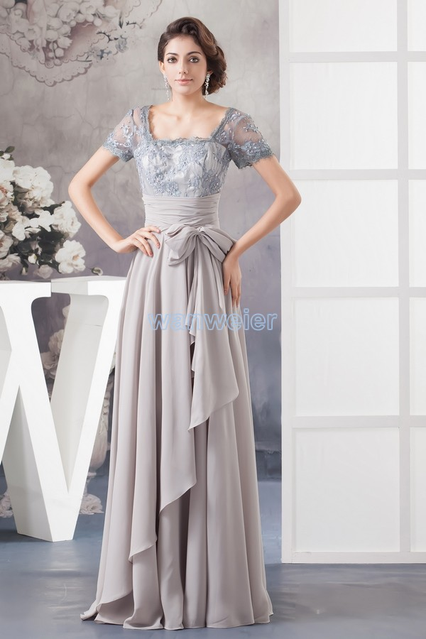 Free Shipping 2018 New Design Hot Custom Beading Chiffon Evening Gown Cap Short Sleeve Plus Size Mother Of The Bride Dresses
