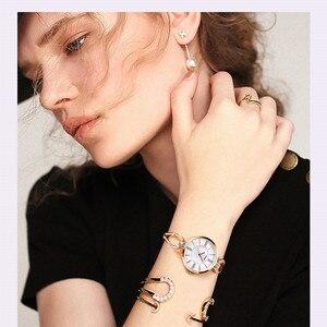 Image 3 - SINOBI relojes de lujo para mujer, pulsera de diamante, elegante, de cuarzo, femenino