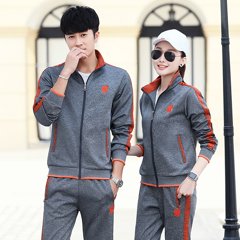 2019 New Style Spring And Autumn Long-sleeve Sportswear Casual Couples Set Running Men And Women