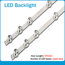 2pcs/set 11 LEDs 575mm New Original LED Strip Replacement VESTEL 32D1334DB VES315WNDL 01 VES315WNDS 2D R02 VES315WNDA 01