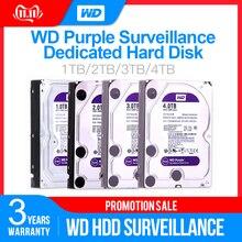 "Жесткий диск Western Digital WD фиолетовый HDD для наблюдения 1 ТБ 2 ТБ 3 ТБ 4 ТБ SATA 6,0 ГБ/сек. 3,"" жесткий диск для видеонаблюдения Камера AHD DVR IP NVR"