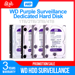 Western Digital WD Lila Überwachung HDD 1TB 2TB 3TB 4TB SATA 6,0 Gb/s 3,5 Hard stick für cctv Kamera AHD DVR IP NVR