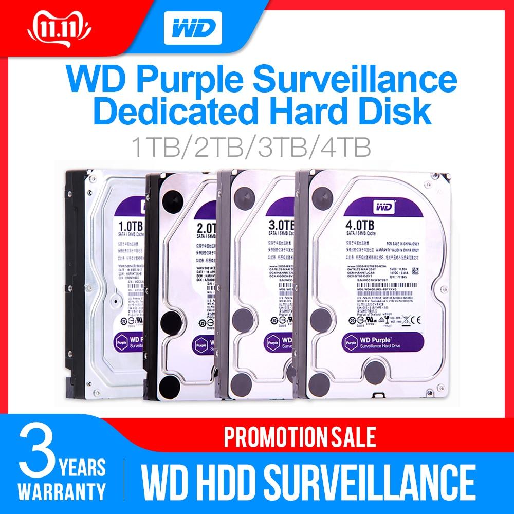 Western Digital WD violet Surveillance HDD 1 to 2 to 3 to 4 to SATA 6.0 Gb/s 3.5 disque dur pour caméra de vidéosurveillance AHD DVR IP NVR