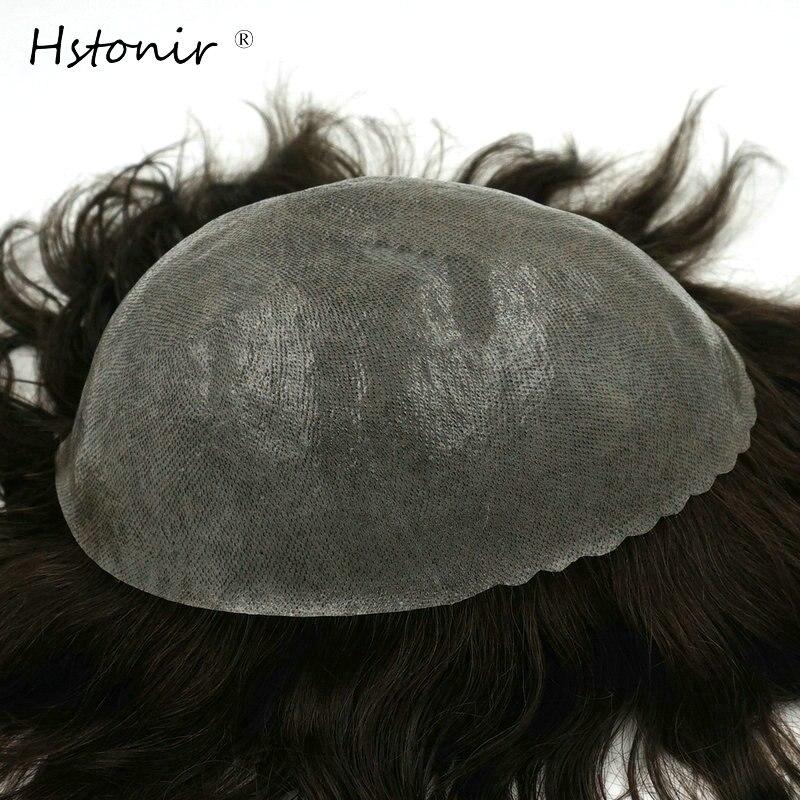 Hstonir 6pcs/lot Human Men Hair Toupee Skin Indian Hair Real Natural Looking Remy Hair Wig H082