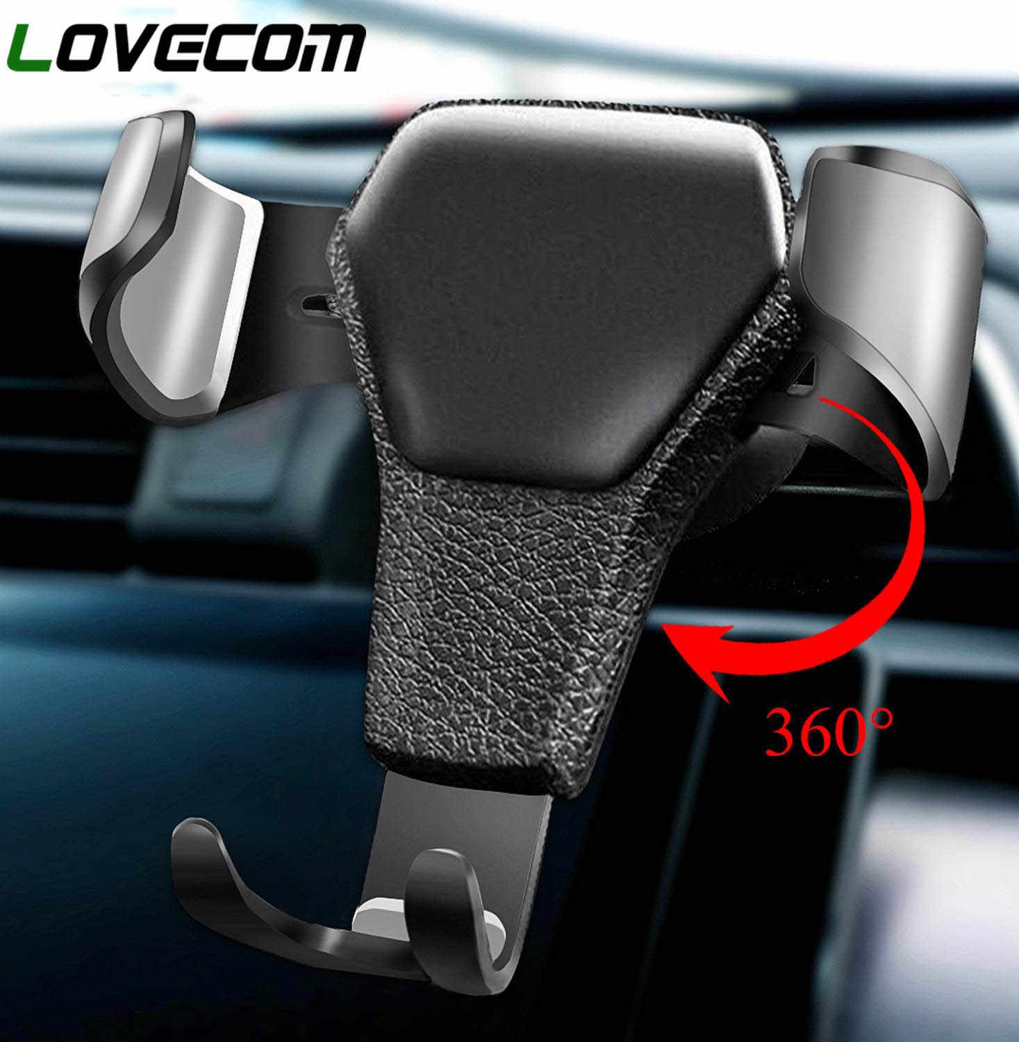 LOVECOM Universal Car Mobile Phone Car Holder Air Vent Mount Stand No Magnetic Cell Phone Holder For iPhone Phone In Car Bracket