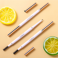 O.TWO.O 4pcs/set Brown Eyebrow Pencil Long Lasting Ultra Fine 1.5mm Thin Eye Brow Makeup Kit