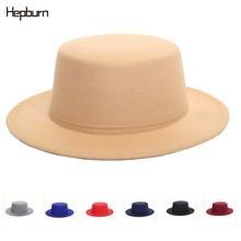 Hepburn brand Unisex elegant hats Womens Men Fedoras Hat Woolen Blend Cap Outdoor Gentleman Elegant Lady Trilby Jazz hat