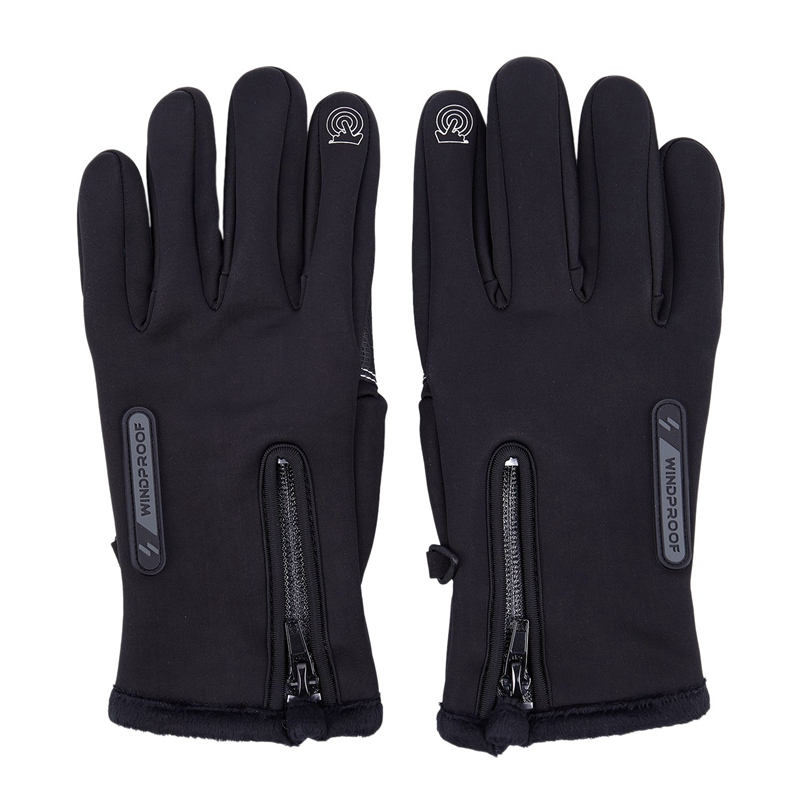 Winter Mens Women Cycling Gloves Anti-Slip Motorcycle Windproof Bike Gloves Anti-Shock Full Finger Mountain Bicycle Gloves S091