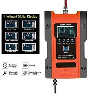Image 4 - Foxsur – chargeur Intelligent de batterie au Lithium 12V/24V 6amp, pour voiture et moto, automatique, 7 étages, plomb acide