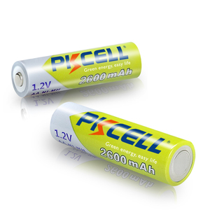 Image 3 - 12個pkcell aa充電式バッテリーニッケル水素1.2v 2600mah 1.2v 2A電池 + 3個のバッテリーボックスホルダーケース