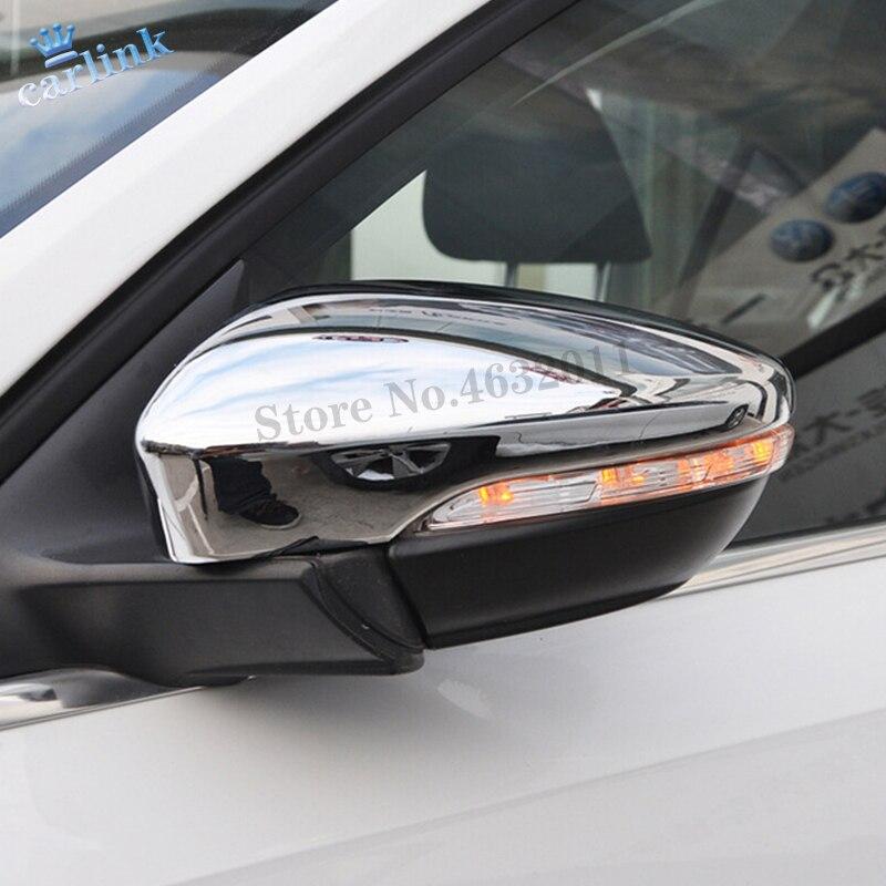 Otomobiller ve Motosikletler'ten Krom Şekillendirici'de JETTA için MK6 2015 2016 2017 2018 ABS krom araba dikiz aynası blok yağmur kaş kapağı Trim araba Styling aksesuarları 2 adet title=