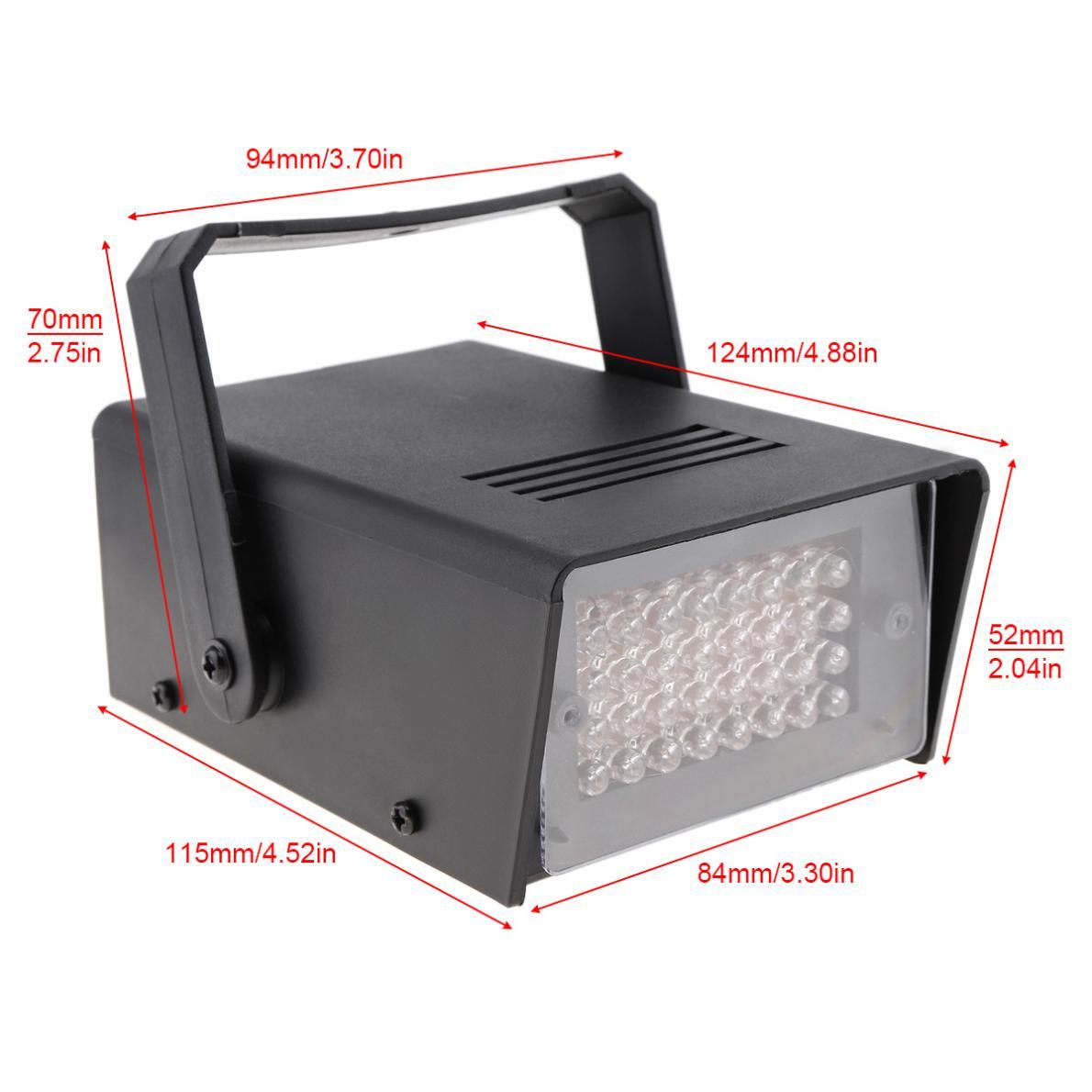 32 leds mini luz estroboscópica controle de