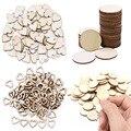 Natürliche Herz/Runde Form Holz Chip Unfinished Holz Ausschnitt Kreise DIY Handmake Holz Handwerk Hochzeit Home Decor Liefert