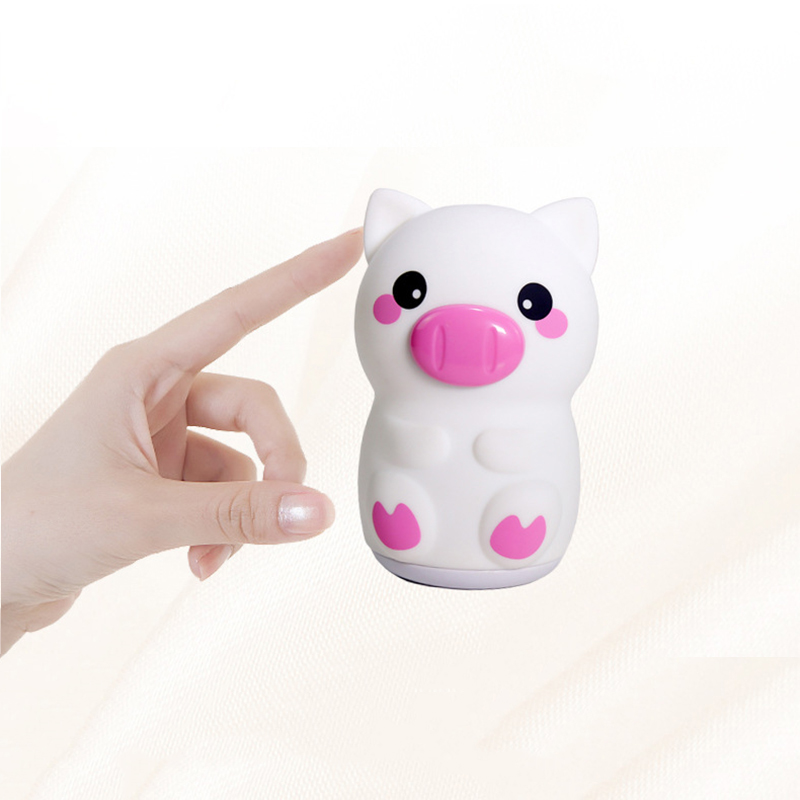 Touch Sensor Tap Control Pig Night Light Soft Silicone Baby Nursery Lamp USB Rechargeable Breathing LED Animal Night Light