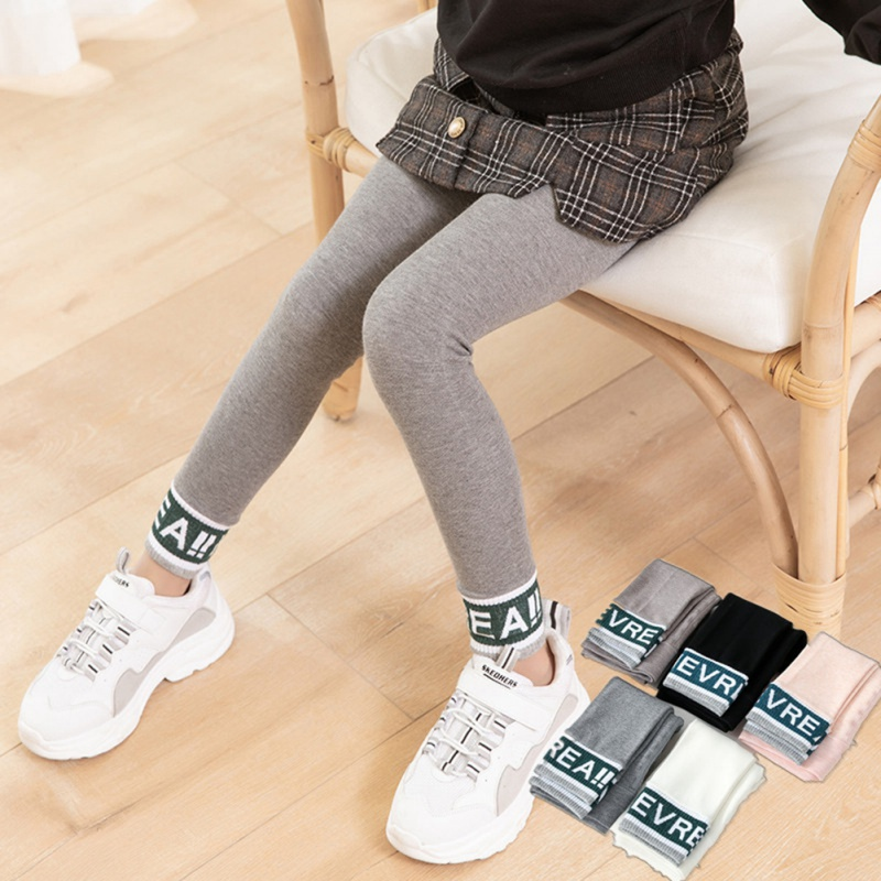 Solid Kids Girls Leggings Cotton Letter Leggings For Girls Casual Children's Girl Winter Pantyhose Autumn Spring