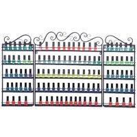 5 Tier Metal Nail Polish Display Organizer Wall Rack Holder nail shop cosmetics shelf large capacity