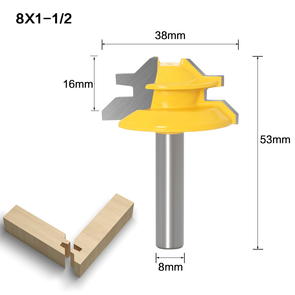 8mm Shank 45 Degree - Up to 3/4